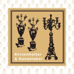 Kerzenhalter und Kandelaber
